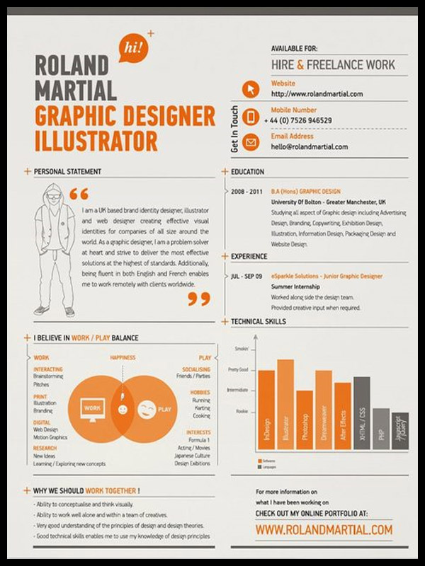 Graphic Designer Resume, Tips And Examples | Photography, Graphic